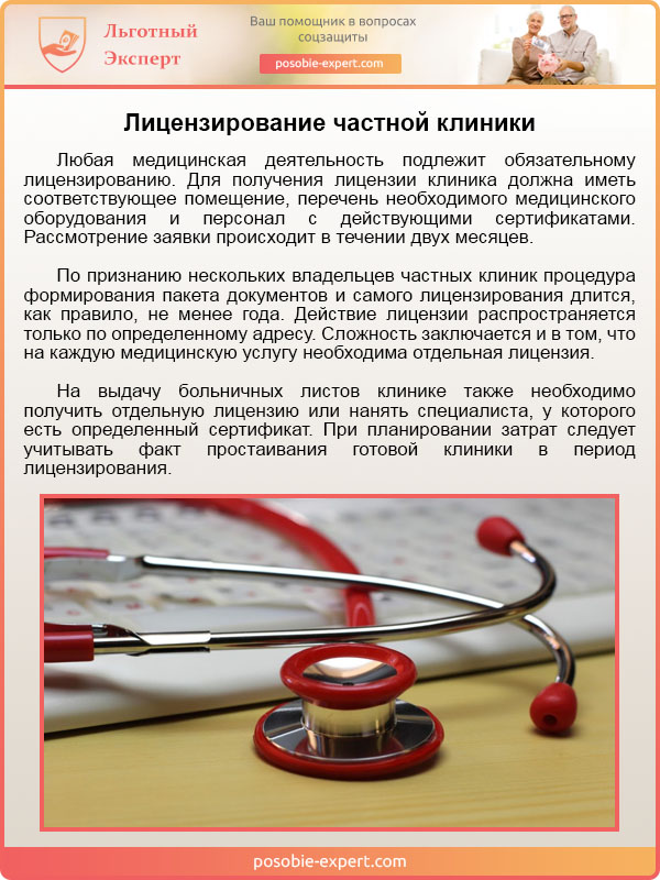 Лицензирование частной клиники