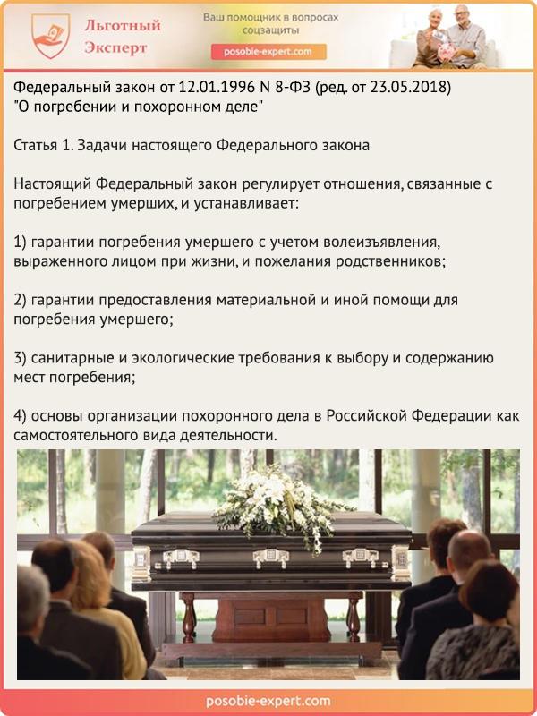 Федеральный закон от 12.01.1996 N 8-ФЗ