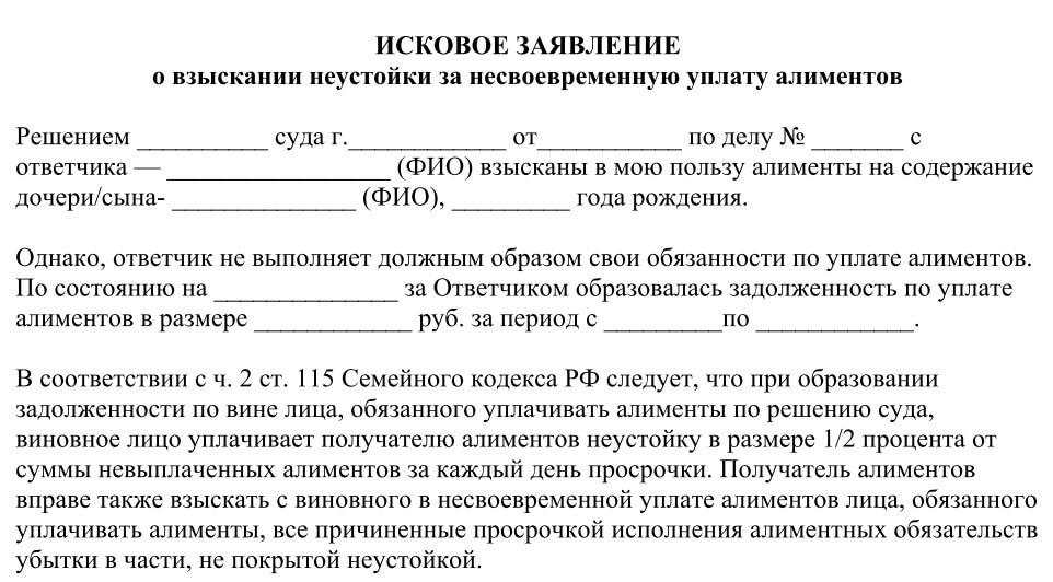 Изображение - Алименты с больничного листа порядок удержания и срок выплаты Iskovoe-zayavlenie-o-vzyskanii-neustojki-za-nesvoevremennuyu-uplatu-alimentov