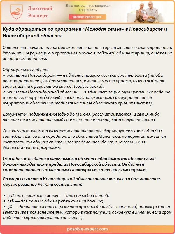 Программа «Молодая семья» в Новосибирске и Новосибирской области
