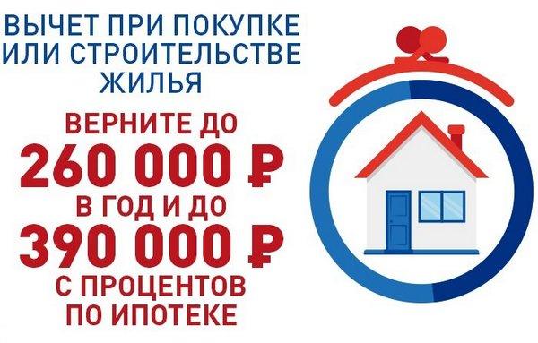 Можно вернуть до 390 тысяч по процентам ипотеки
