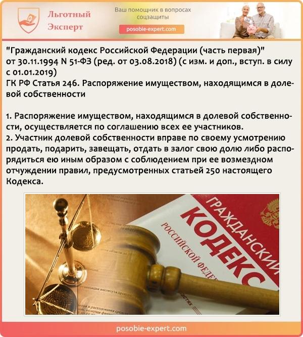 Гражданский кодекс РФ N 51-Ф3. Статья 246