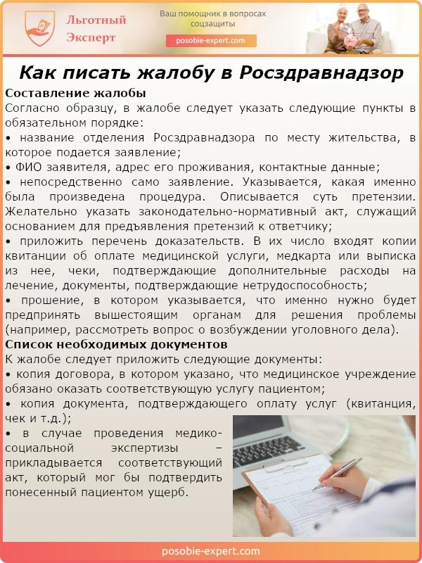 Как писать жалобу в Росздравнадзор