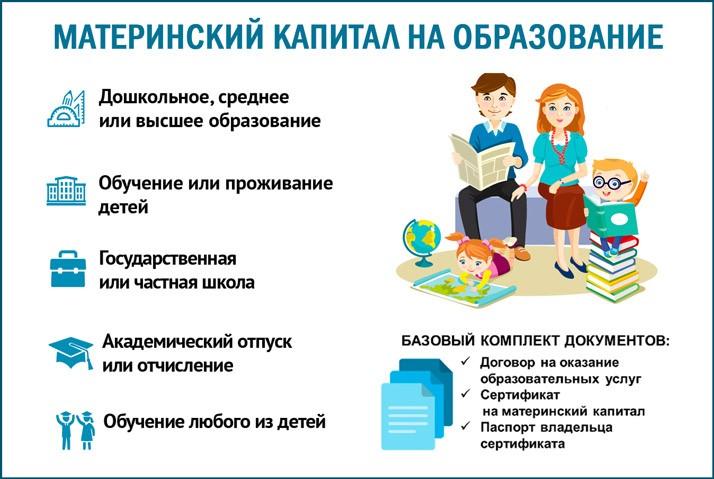 Материнский капитал на образовательные нужды