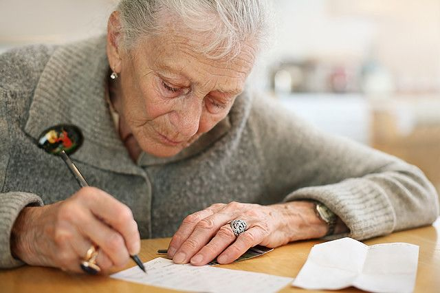Написание заявления на получение пенсии