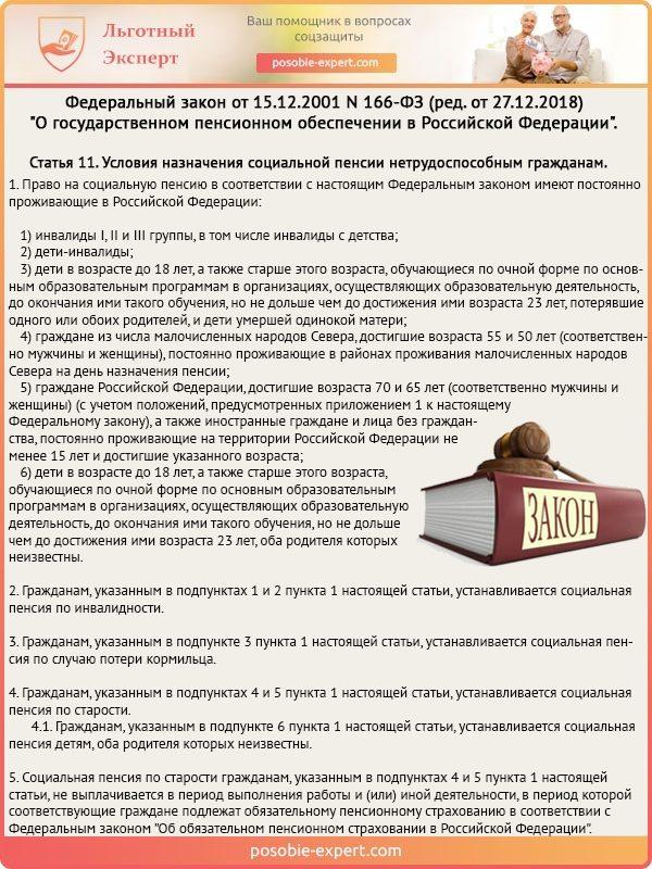 Статья 11 Федерального закона №166-ФЗ