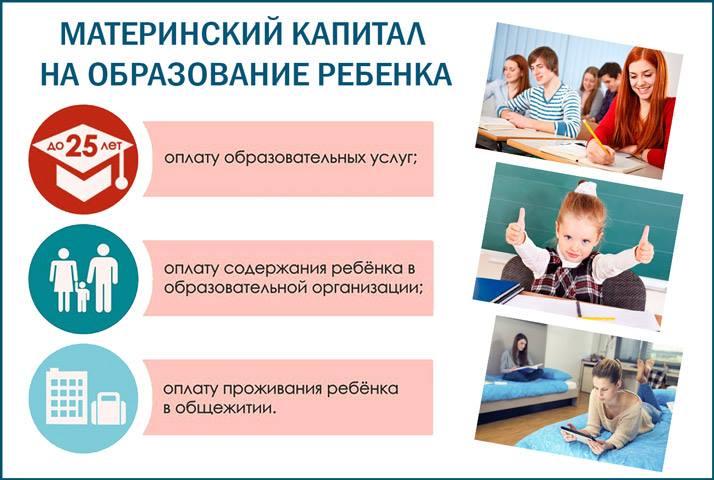 Варианты применения государственной помощи на образование детей