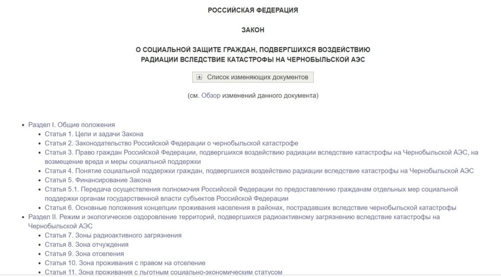 Закон РФ №1244-1 от 15.05.1991