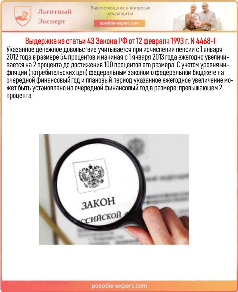 Выдержка из статьи 43 Закона РФ от 12 февраля 1993 г. N 4468-I