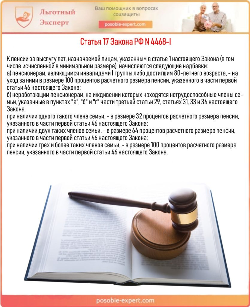 Статья 17 Закона РФ N 4468-I