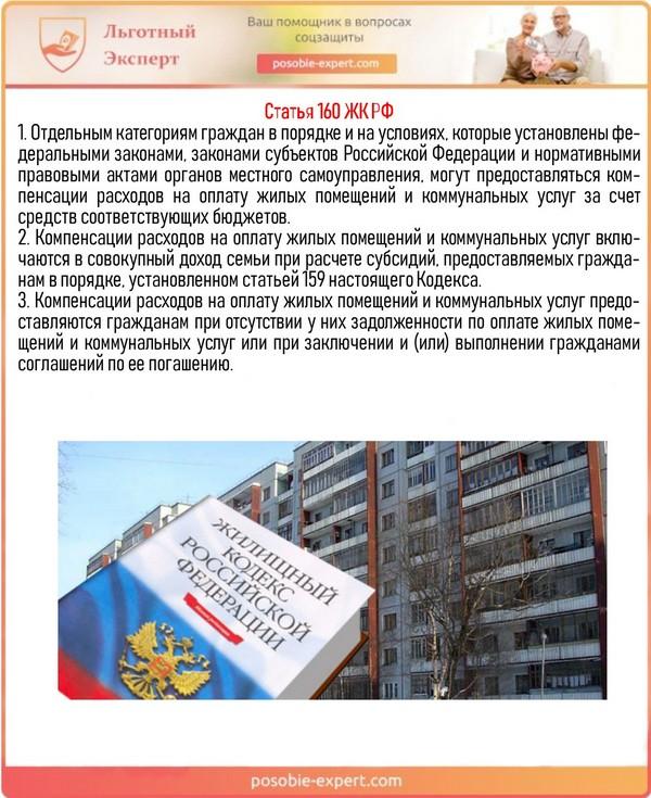 Статья 160 ЖК РФ