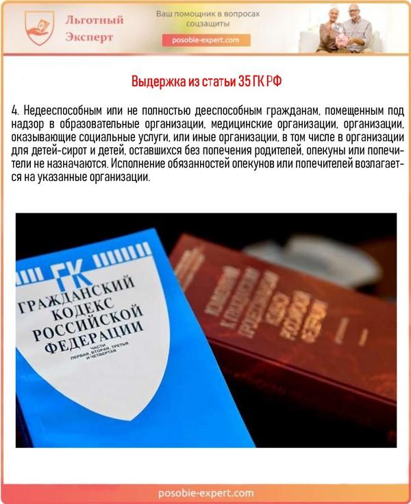 Выдержка из статьи 35 ГК РФ