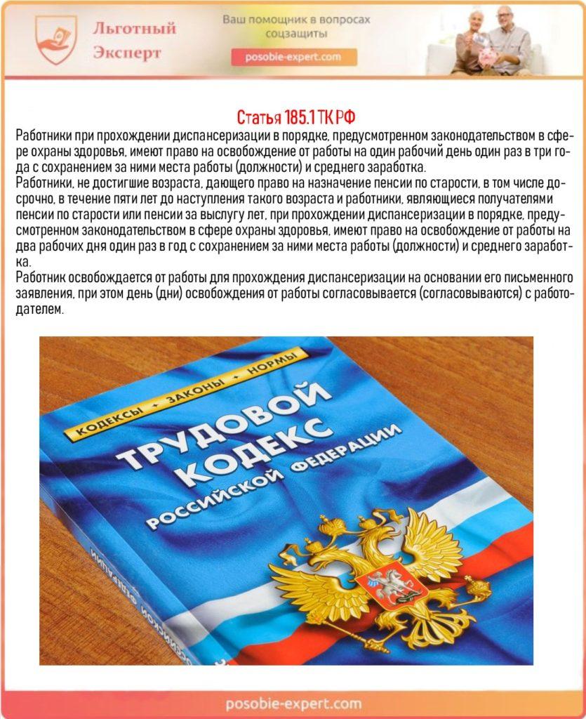 Статья 185.1 ТК РФ