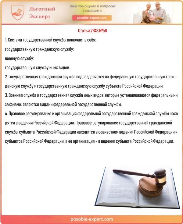 Статья 2 ФЗ №58