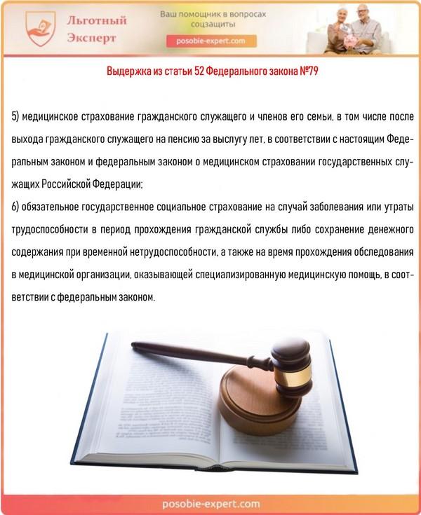 Выдержка из статьи 52 Федерального закона №79