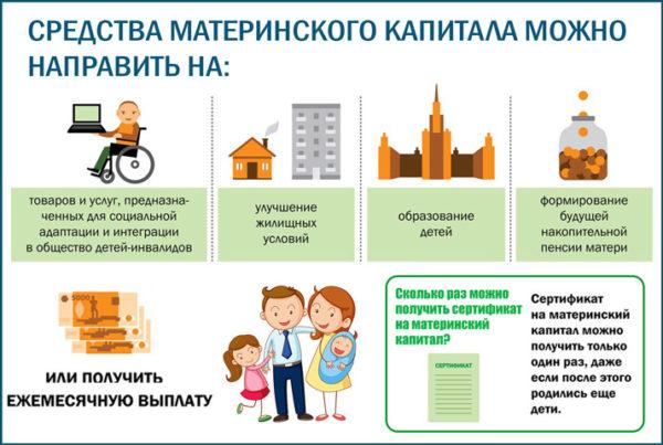 5 основных направлений куда можно использовать средства материнского капитала
