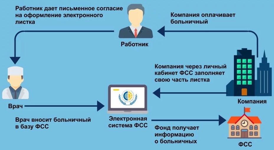 Схема оплаты больничного листа