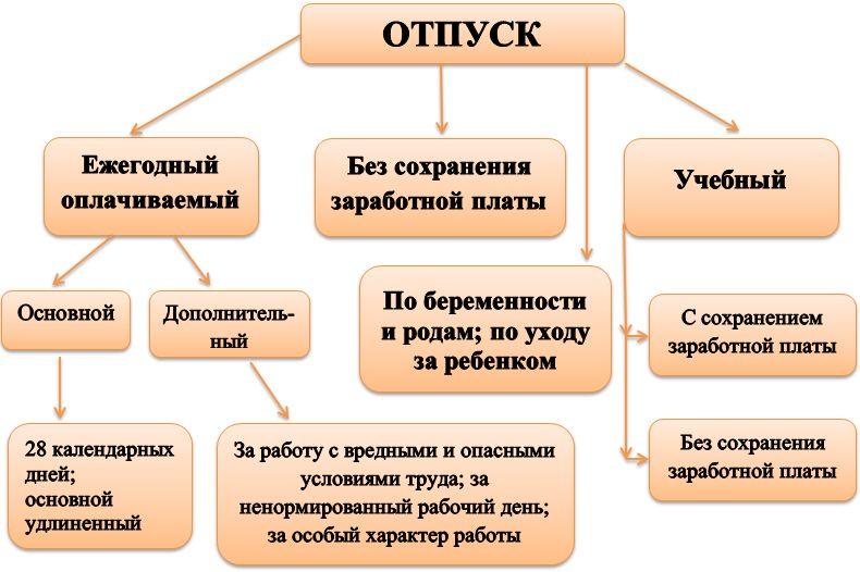 Виды отпусков и категории граждан, которые могут ими воспользоваться