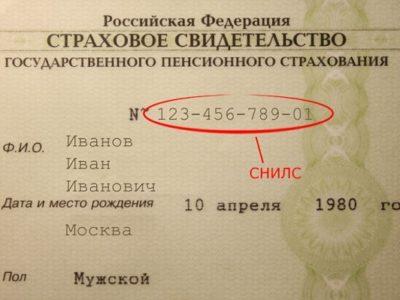СНИЛС - непосредственно номер, нанесенный на карточку, состоящий из 11 цифр - индивидуальной числовой последовательности, присваиваемой каждому гражданину РФ
