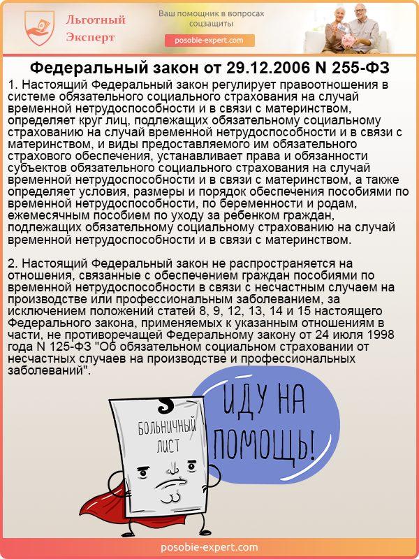 Федеральный закон от 29.12.2006 №255-ФЗ