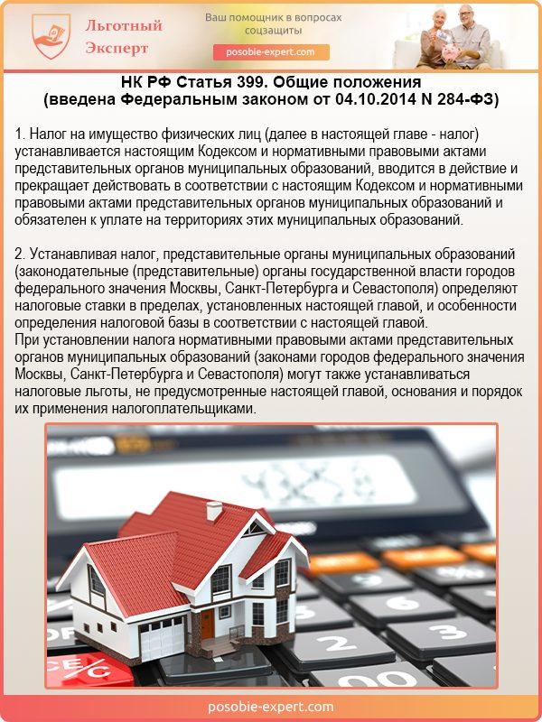 НК РФ Статья 399. Общие положения