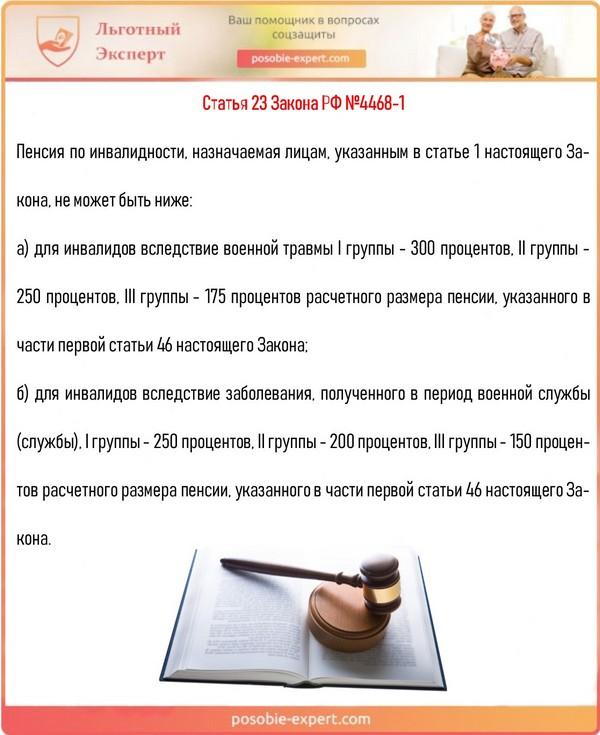 Статья 23 Закона РФ №4468-1