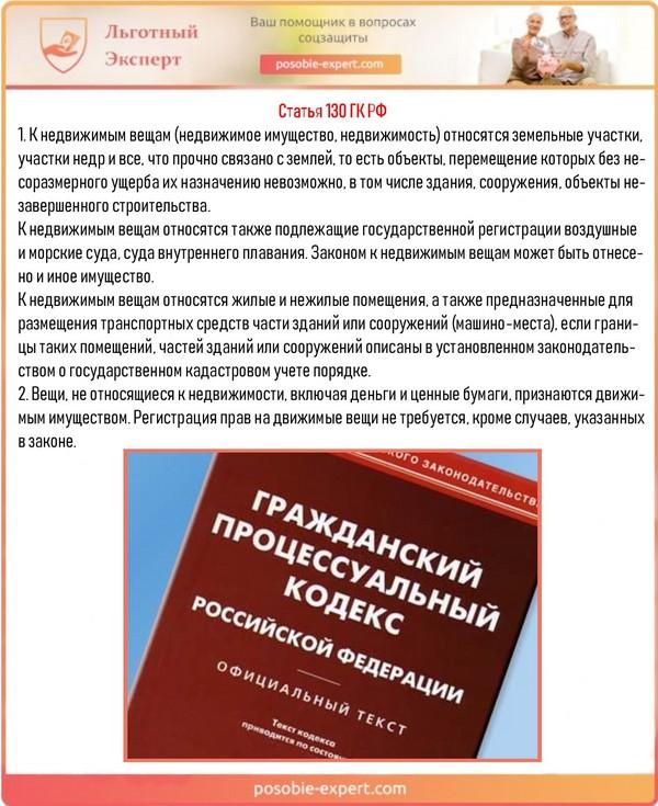 Статья 130 ГК РФ
