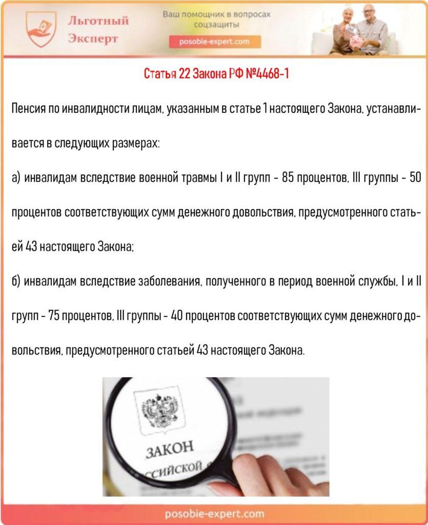 Статья 22 Закона РФ №4468-1