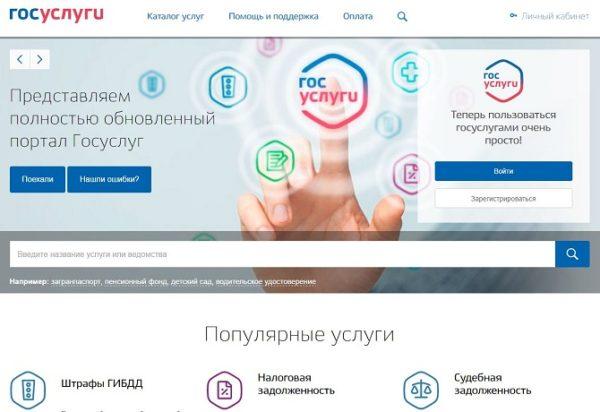 Подача декларации может быть осуществлена через общероссийский сайт Госуслуг